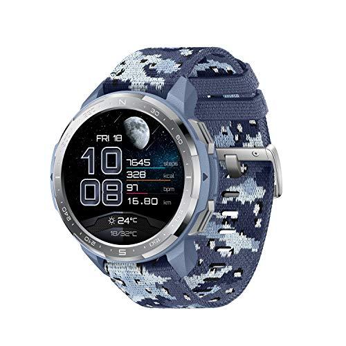"""HONOR GS Pro Smartwatch Reloj Inteligente Deportivo 5ATM Resistente al Agua GPS Smart Watch Pulsera de Actividad 1.39"""" con Monitor de Pulsómetro Compatible con iOS y Android (Azul)"""