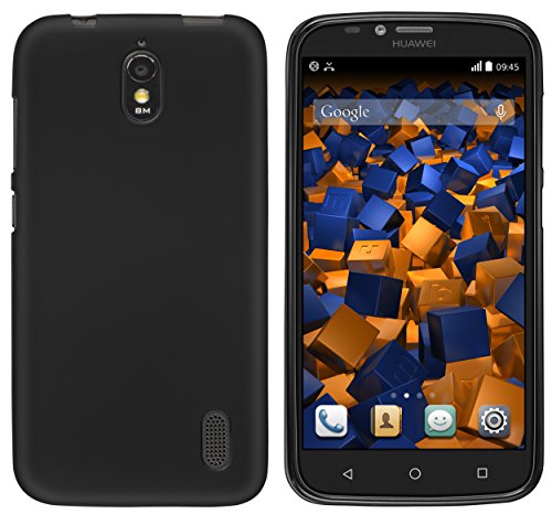 mumbi Hülle kompatibel mit Huawei Y625 Handy Case Handyhülle, schwarz