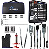 Best Bbq Tool Sets - Torro Products 25PCS BBQ Grill Stainless Steel Laser Review