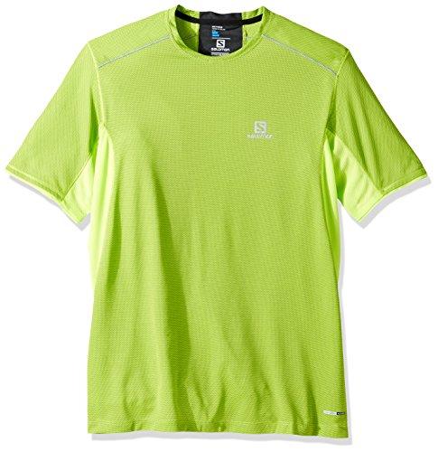 SALOMON Trail Runner SS M Camiseta de Manga Corta, Hombre, Verde (Lime Green), S