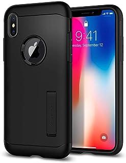 Spigen iPhone X Slim Armor kickstand cover/case - Black