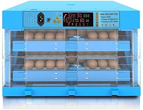 ZJWN Incubadora, 128 Huevos Automáticos Incubatores Digitales, con Giro automático de Huevos y Control automático de Temperatura y Humedad,128 Eggs