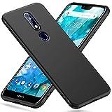 Peakally Nokia 7.1 Hülle, Matte Oberfläche Soft Hüllen [Ultra Dünn] [Kratzfest] TPU Schutzhülle Case Weiche Handyhülle für Nokia 7.1 5.84