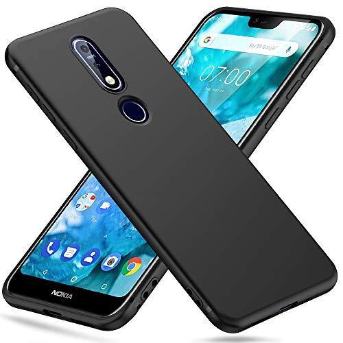 Peakally Nokia 7.1 Hülle, Matte Oberfläche Soft Hüllen [Ultra Dünn] [Kratzfest] TPU Schutzhülle Hülle Weiche Handyhülle für Nokia 7.1 5.84