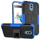 Jielangxin Funda para Motorola Moto G4,Teléfono con Soporte a Prueba de Golpes Funda para Motorola Moto G4 XT1620 XT1621 XT1622 XT1624 XT1625 XT1626 / Moto G 4th Gen Carcasa Case Funda Blue
