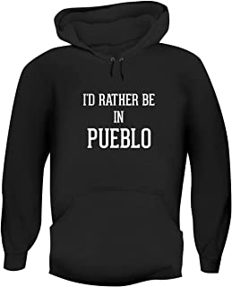One Legging it Around I'd Rather Be in Pueblo - Hashtag Men's Funny Soft Adult Hoodie Pullover