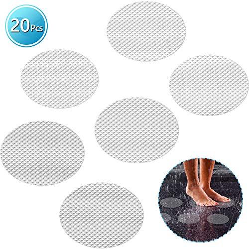 DanceWhale 20 Stück Anti Rutsch Aufkleber, 10CM Durchmesser Rund Selbstklebenden Antirutsch Sticker für Badewanne und Dusche Transparent Badewannenmatte rutschfest