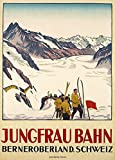 "World of Art Hochglanz Vintage-Poster ""Jungfraubahn,"