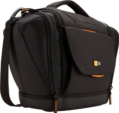 Case Logic SLRC203 SLR Camera Bag L Kameratasche inkl. Hammock System & Hartschalenboden (für Spiegelreflex) schwarz/orange