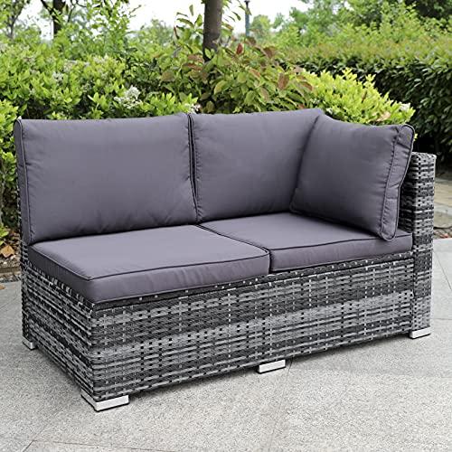 Enjoy Fit Rattan Polyrattan Lounge Sitzgruppe Garnitur Gartenmöbel aus 4 Sitze Sofa, Aufbewahrungsbox für Kissen - 6