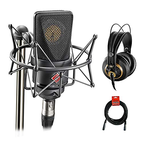 Neumann TLM 103 Condenser Microphone Mono Set (Black) with AKG K 240 Studio Pro Headphones & XLR Cable Bundle