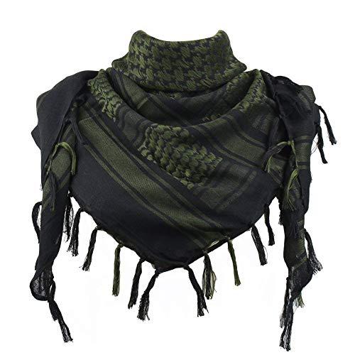 JONKUU® Halstücher PLO Schal°110x110 cm°Pali Palästinenser Arafat Tuch°100% Baumwolle - Viele Farben (Grün, Einheitsgröße)