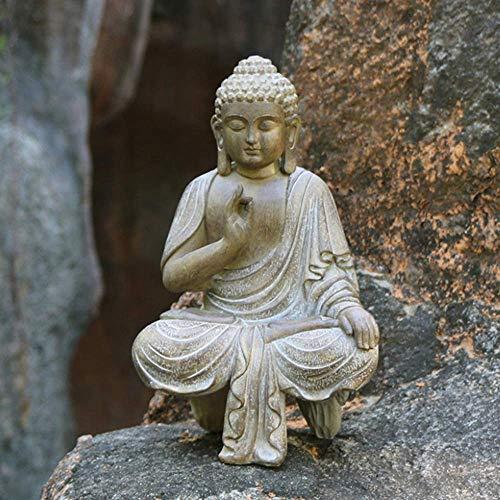Pevfeciy Thai Kunst der buddhistischen Statuen, Skulpturen, die für die Dekoration der dekorativen H24CM Hauses Skulptur Büro Garten Aquarium des Harzes...
