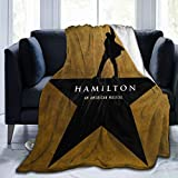 PANDASTYLE Hamilton Ultra-Soft Micro Fleece Blanket Home Decor Warm Anti-Pilling Flannel Throw Blanket for Couch Bed Sofa,50'' X40