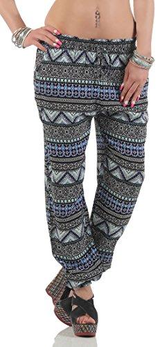 Malito dames harembroek in etnische look | vrijetijdsbroek voor yoga | joggingbroek om te chillen | pompbroek 2105-49
