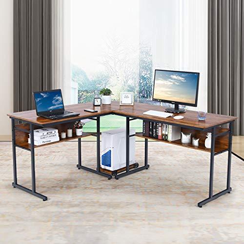 Yakey Double L-Shaped Desk