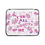 15 Inch Laptop Sleeve Pink Butterflies It's All About Me