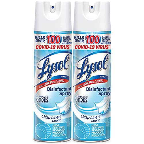 Lysol Disinfectant Spray, Sanitizing and Antibacterial Spray, For Disinfecting and Deodorizing,...