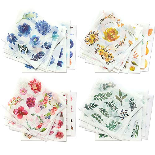 1000Art Nature Stickers Set(80 Sheets / 600+) Flowers Leaves Botanical Stickers for Planner,Journals,Cards,DIY Arts and Crafts,Scrapbooks,Calendars,Album