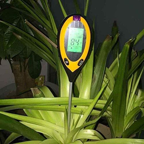 XXT 4 en 1 LCD Medidor de pH Jardín Tester Suelo Digital Temperatura Luz del Sol Moderure PH Meter HERRAMIENTE