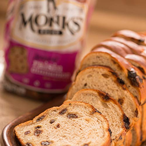 Monks' Cinnamon Raisin Bread 3 Loaf Bundle (3 x 1lb. loaves)