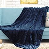 Electric Heated Throw Electric Heating Blanket Electric Blanket ETL Certified Fast Heating 3 Heat Settings Auto Shut Off Washable 50'x 60' Blue (Navy Blue, 50''x60'')