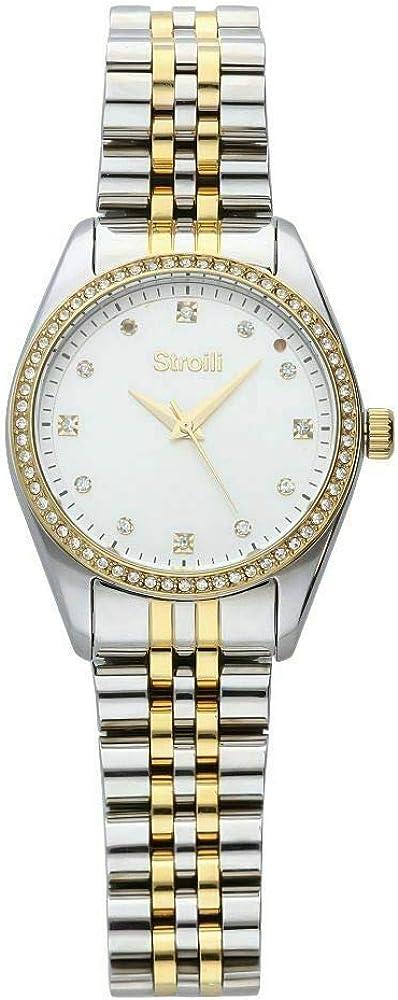 Stroili orologio per donna in acciaio silver e cristalli SR-X2470L_02M