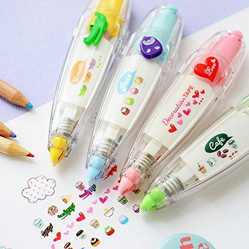 exo.nu - Penna con adesivi, motivo casuale Random Style