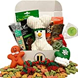 Dog Gift Box Basket for Favorite Canine Fur Baby Perfect for Lover Christmas Furry Pet Friend Prime Treats Toys (Holiday Barker Box)