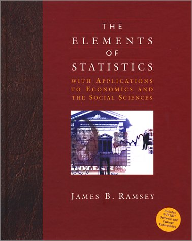 The Elements of Statistics with Applications to Economics and the Social Sciences