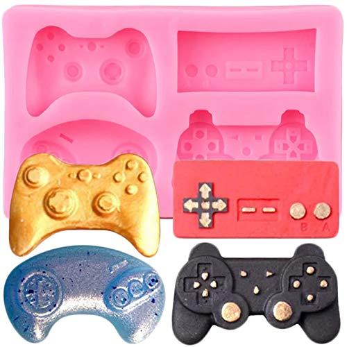 ZPZZPY Silikonformen für Tastatur, Controller, Gamepad, Fondant, Geburtstagskuchendekoration, Werkzeug, Süßigkeiten, Ton, Schokolade