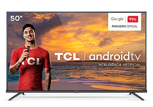 "Smart TV 4K LED 50"" TCL 50P8M Android Wi-Fi - Bluetooth HDR Inteligência Artificial 3 HDMI 2 USB"