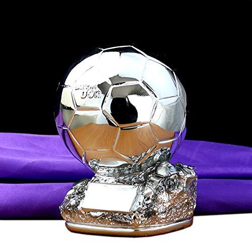 Aida Bz Fußball-Trophäe Weltmeisterschaft Fußball-Trophäe Gewinner Trophy Replica,Silver,H24cm
