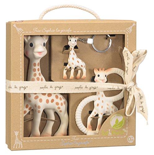 Vulli - So'Pure - Coffret Sophie la Girafe : un Jouet, un anneau de dentition, un porte clé