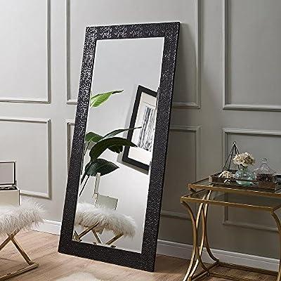 Naomi Home Mosaic Style Full Length Floor Mirror Black