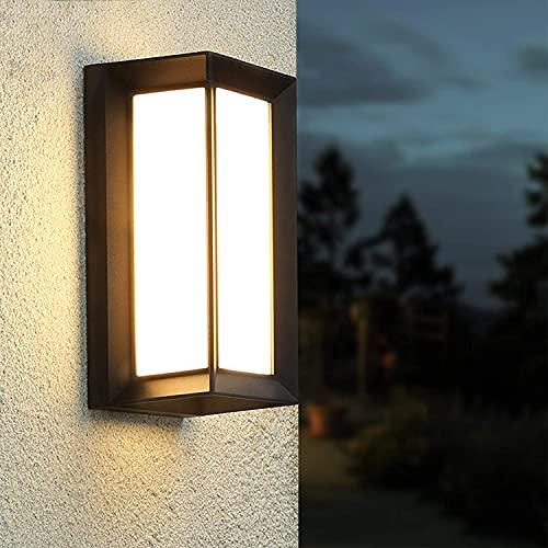 LED Wandleuchte, IP65 Wasserdichte 18W Warmweiß 3000K Aluminium Rechteck Außenwandleuchte LED Aussen Aussenleuchte Außenlampe für Garten Front Badezimmer Veranda Garage Schlafzimmer Flur