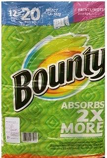 Bounty バウンティー ペーパータオル 105カット 12ロール(柄あり)