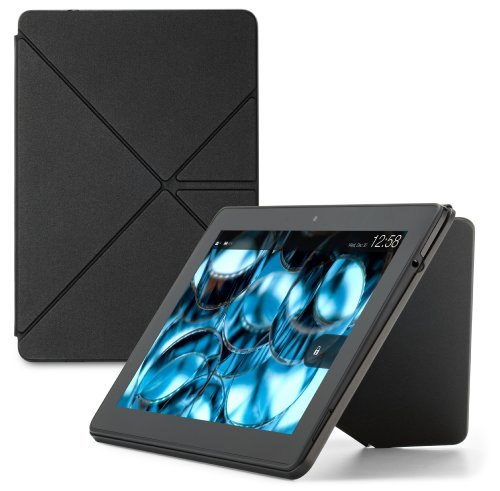 Custodia Amazon Origami in poliuretano con stand per Kindle Fire HDX 8,9  (3ª generazione - modello 2013), Nero