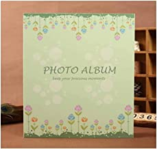 LIFANG Photo Album, Stylish And Cute Appearance Traditional Photo Album, Family Record Child Baby Growth Record Book, (can Accommodate 500 Photos, Green) your best choice. (Color : Green)