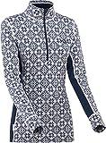 Kari Traa Women's Rose Base Layer Top - Half Zip Long Sleeve Wool Thermal Shirt, Marin, Medium