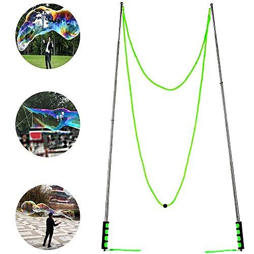 Ubitree Varita de Burbujas Gigante Pompas de jabón Palos Pompas Gigantes Barras Extensibles Metálicas Grandes Pompas Maquina Burbujas Juguetes para niños Verano al Aire Libre Parque Entretenimiento