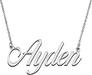 GR859C Personalized Heart Pendant Name Necklace for Her