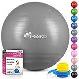 TRESKO Ballon de Gymnastique | Anti-éclatement | Boule d'assise | Balle de Yoga | Balles...