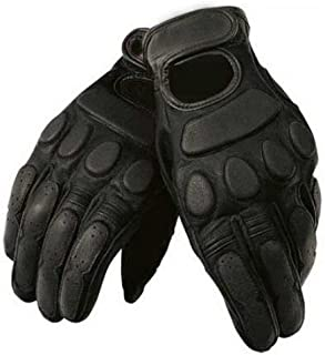 Leather Roadster Classic Motorcycle Gloves Black