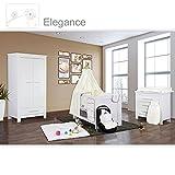 Babyzimmer Enni in weiss 10 tlg. mit 2 türigem Kl. + Textilien von Elegance in Weiß/Beige