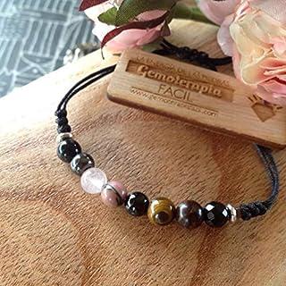 Pulsera PROTECCIÓN super 8, 8 piedras semipreciosas, potenente talismán protector, amuleto de sabiduria