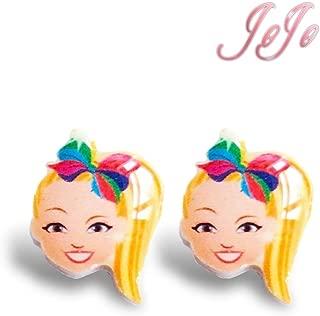 Jojo Earring for Girl Studs Unicorn Bow Theme Fashion Earrings Plastic Soft Material for Girls, Women - 1 pair