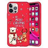 Pnakqil Navidad Funda para OnePlus 8 (5G) 6,55',Antichoque Rojo Suave Silicona Carcasa con Diseño de Patrones Navideños Protectora Case Compatible con OnePlus 8 5G, Navidad