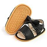 Babelvit Infant Baby Girl Boy Sandals Comfort Premium Summer Outdoor Casual Beach Shoes with Flower Bowknot Anti Slip Rubber Sole Newborn Toddler Prewalker First Walking Shoes