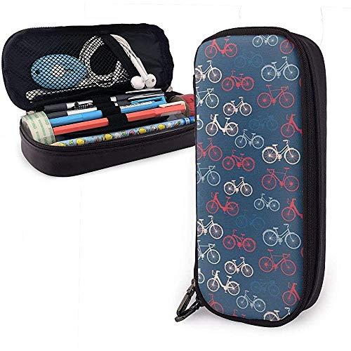 City Race Und Girls Bike Sketches Stift Federmäppchen Leder Big Capacity Pencil Pouch Tasche Stifthalter Box